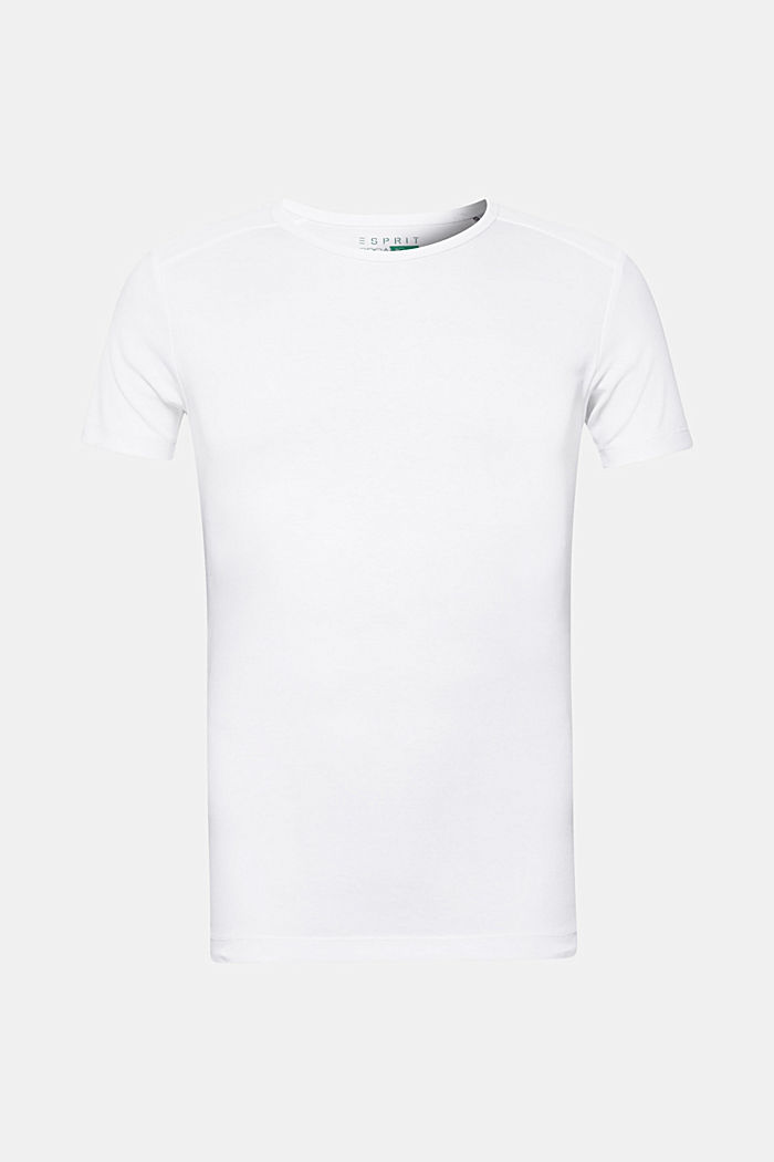 Jersey T-shirt in 100% cotton, WHITE, detail image number 0