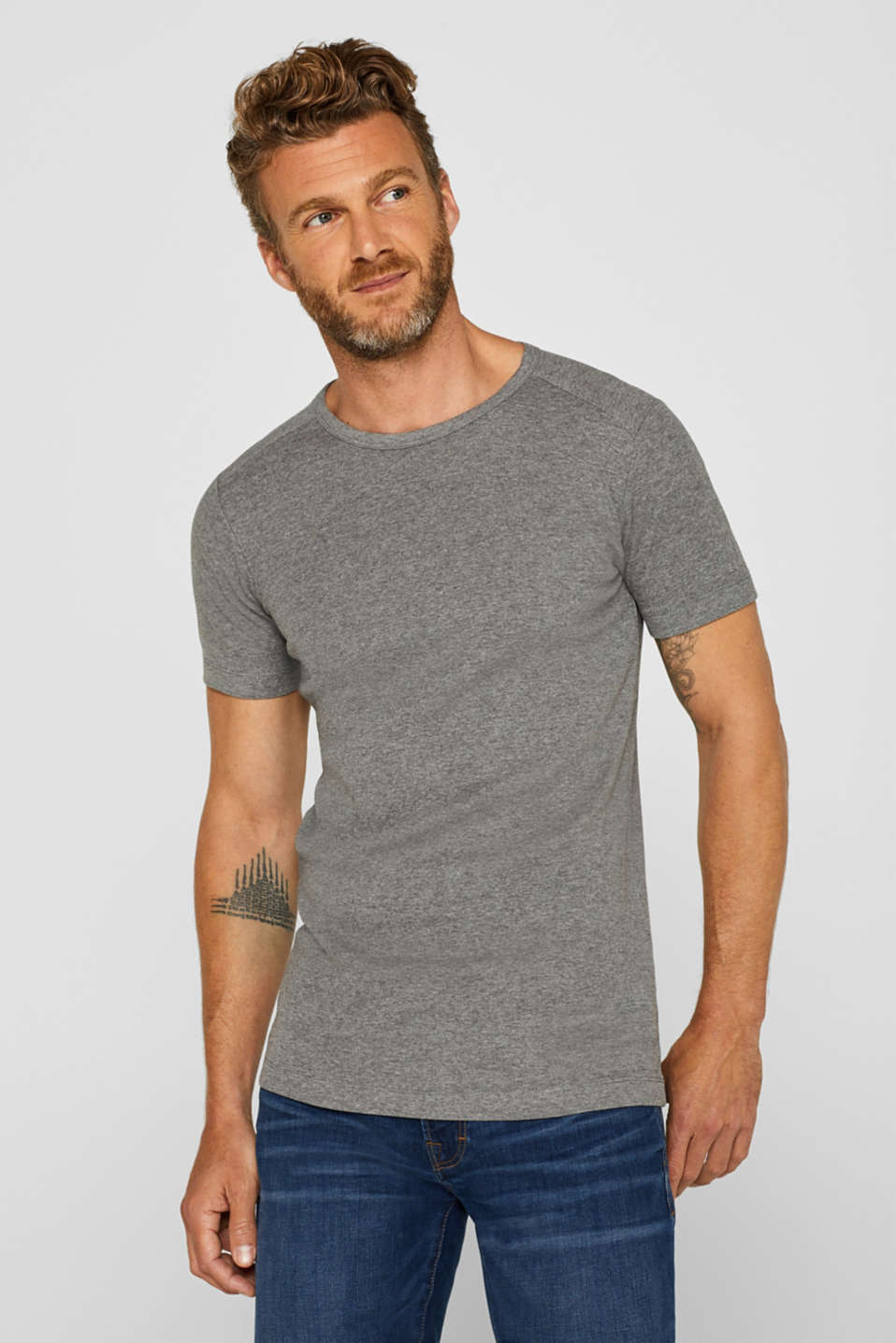 Esprit - Basic jersey T-shirt, with organic cotton