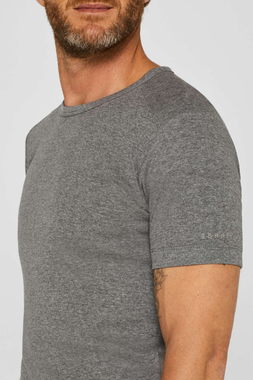 Basic jersey T-shirt, with organic cotton