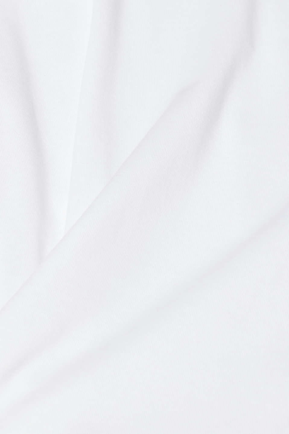 Long sleeve jersey top in 100% cotton, WHITE, detail image number 5