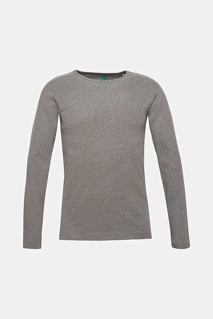 Melange long sleeve jersey top, MEDIUM GREY, detail image number 0