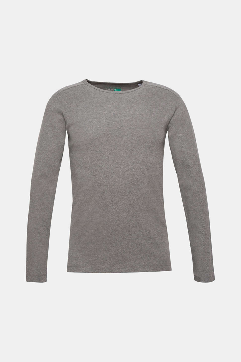 Melange long sleeve jersey top, MEDIUM GREY, detail image number 6