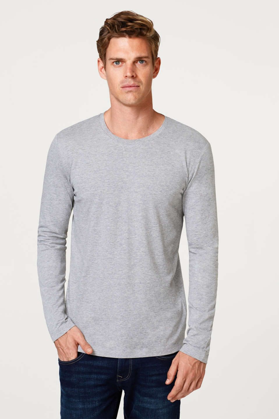 Esprit - Melange long sleeve jersey top