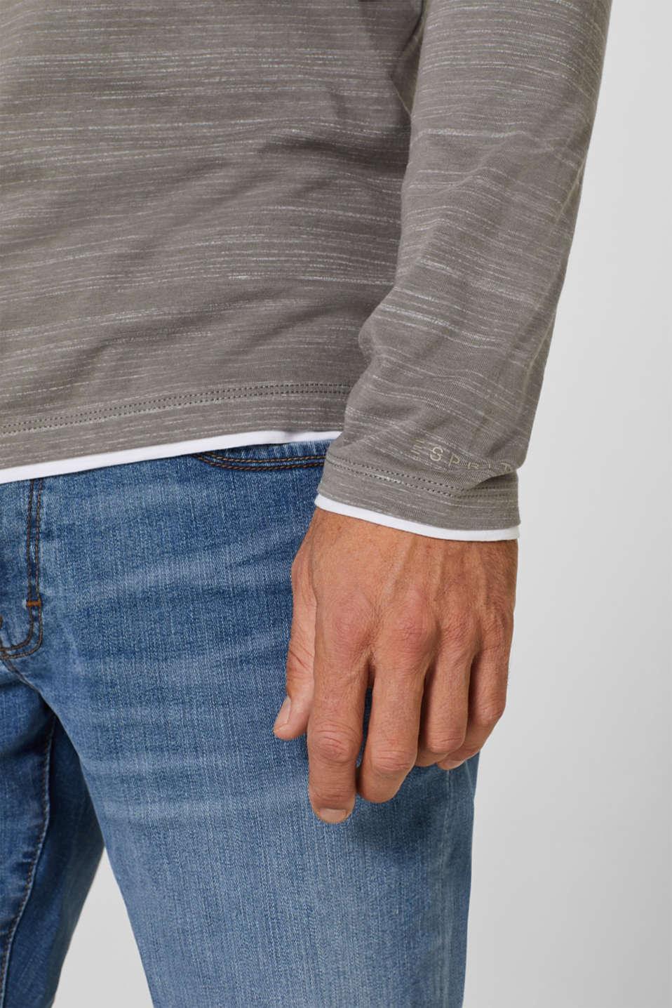 T-Shirts Slim fit, GREY, detail image number 1