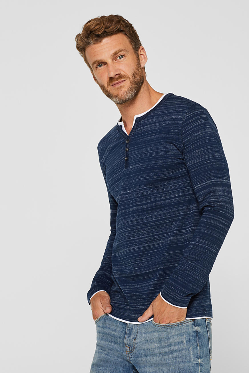 Henley-Shirt im Layer-Look, aus Jersey