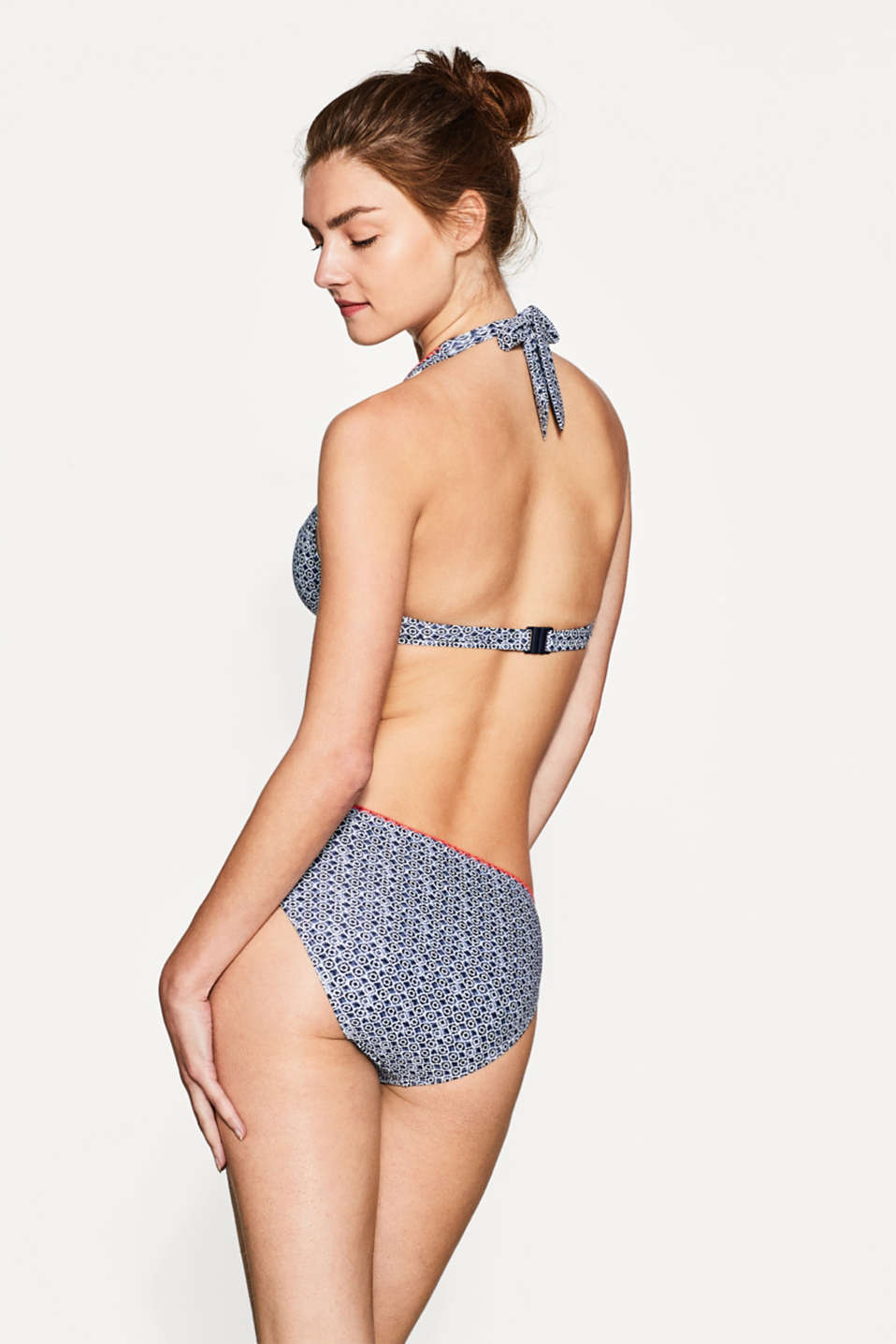 Unpadded top with flexible underwiring, NAVY, detail image number 1