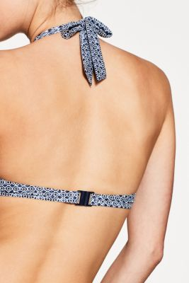 Unpadded top with flexible underwiring, NAVY, detail