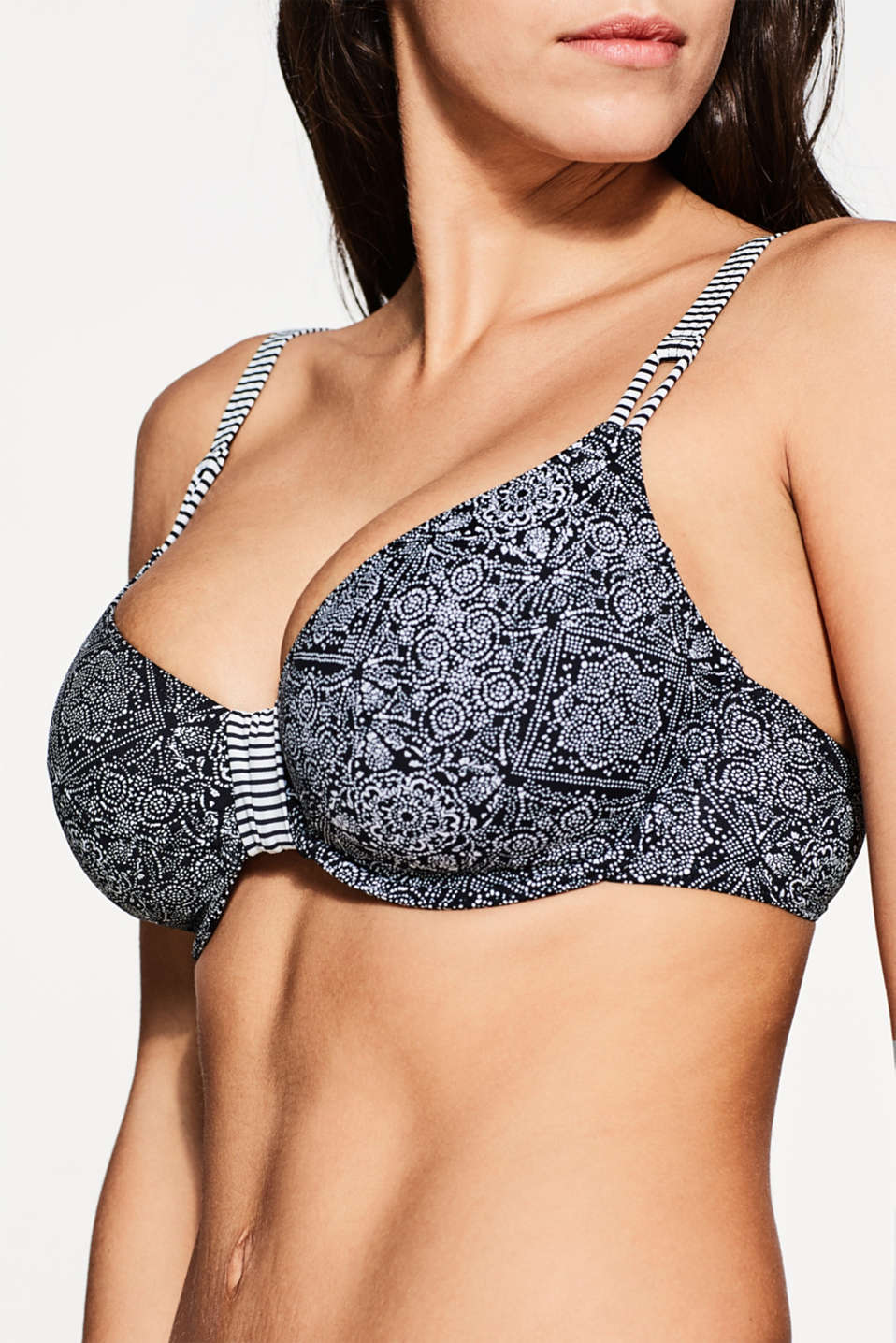 Unpadded underwire top for large cups, BLACK, detail image number 2