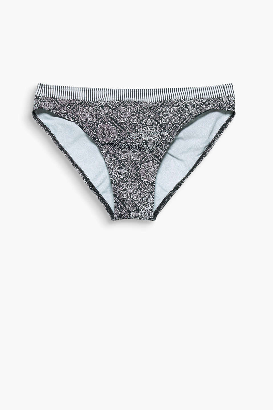 Collection SAN DIEGO - the combination of the ornament print and striped trim gives these bikini bottoms their lush look!