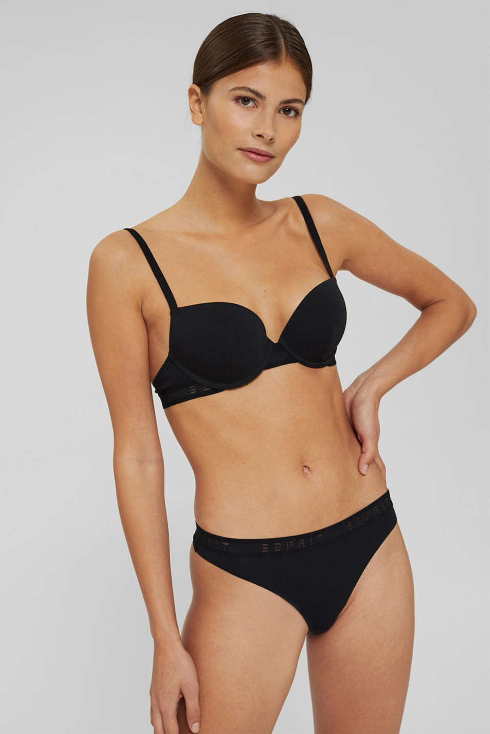 Esprit - Stark wattierter Push-Up-BH mit Bundblende