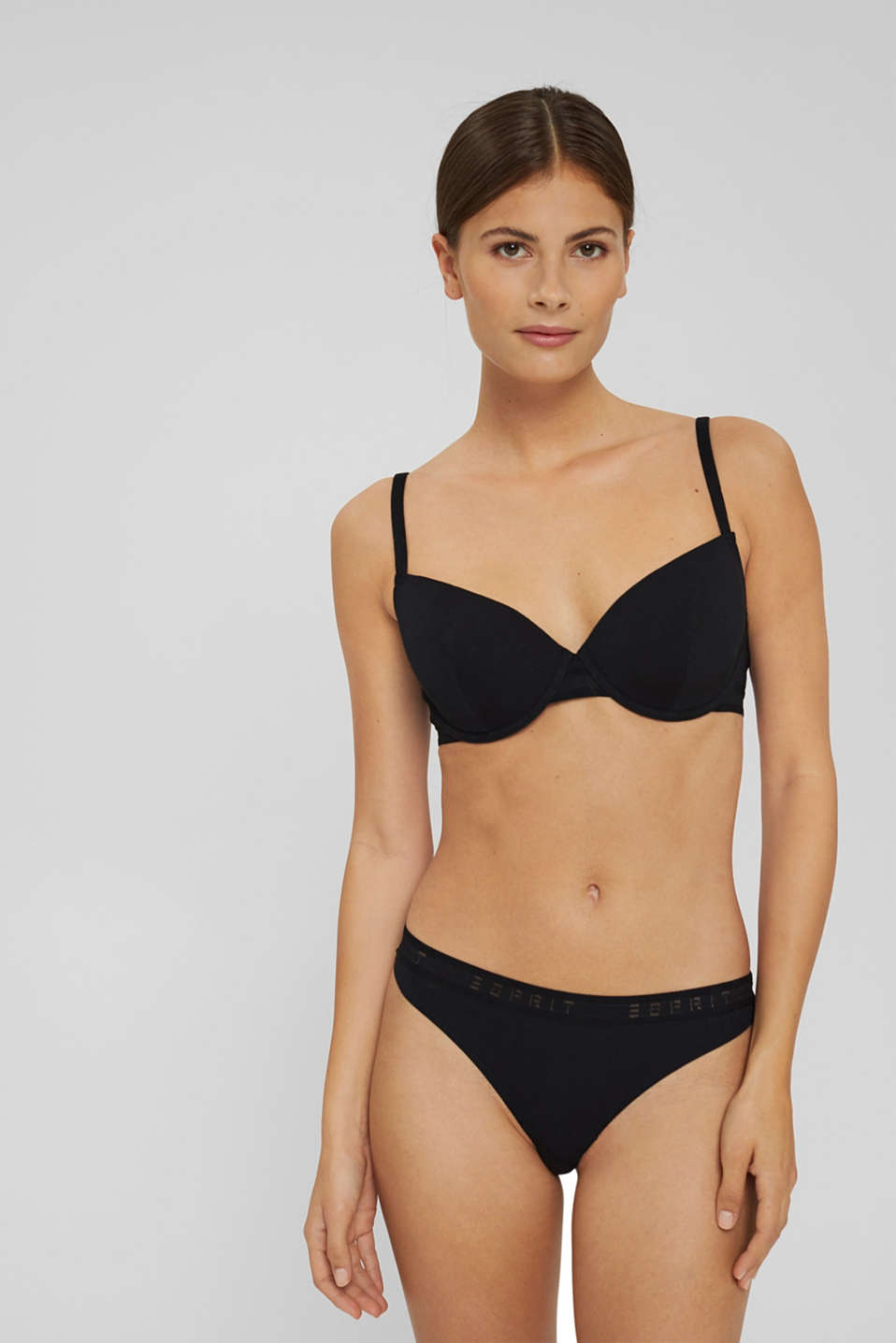 Esprit - Padded underwire bra with a logo trim