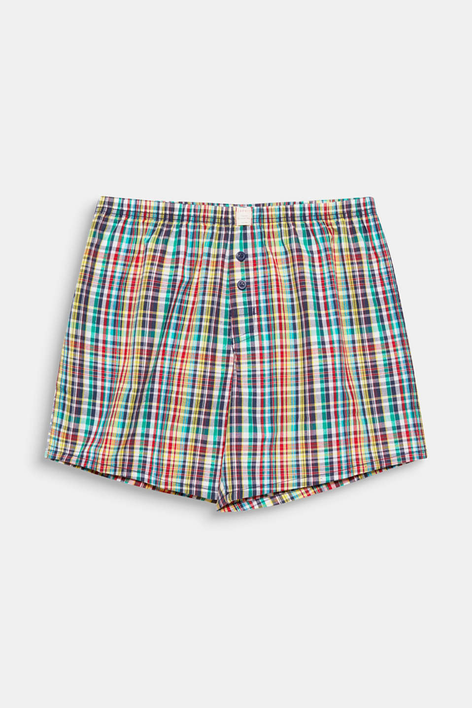 These casual boxer shorts made of pure cotton wow us with a colourful mini check!