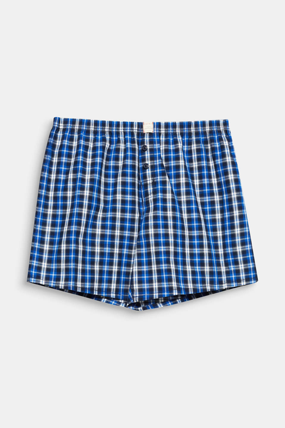 Trendy check on smooth cotton fabric - this winning combo makes these woven shorts truly lustworthy.