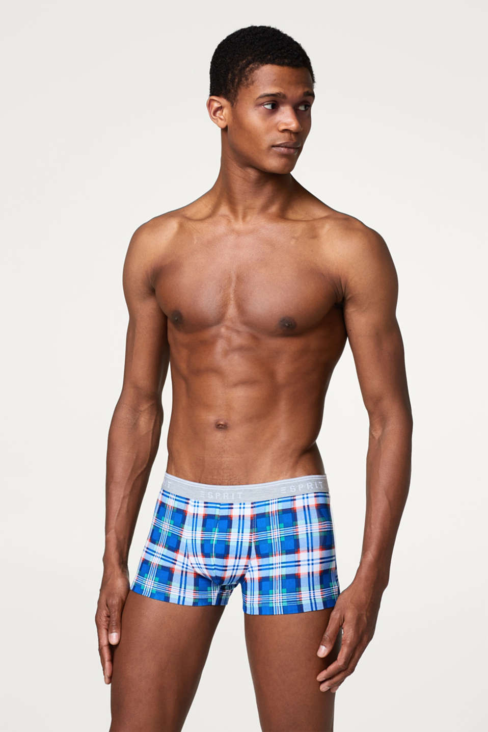 Esprit - Hipster shorts with a stylish check print