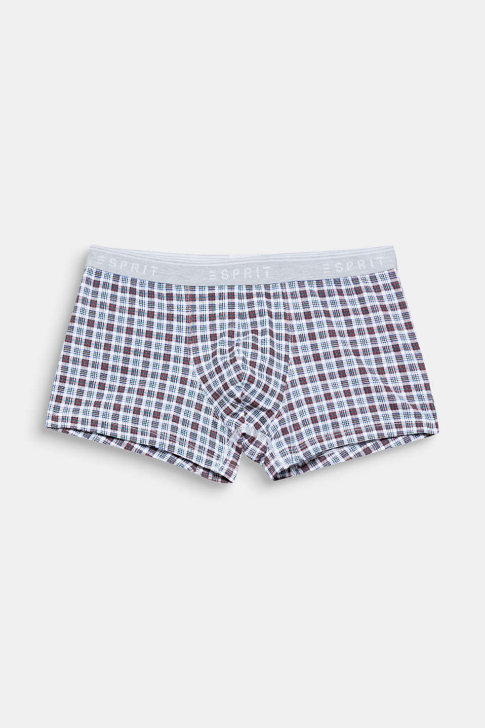 Bold checks meet a trendy mix of colours on these hipster shorts in comfortable stretch jersey!