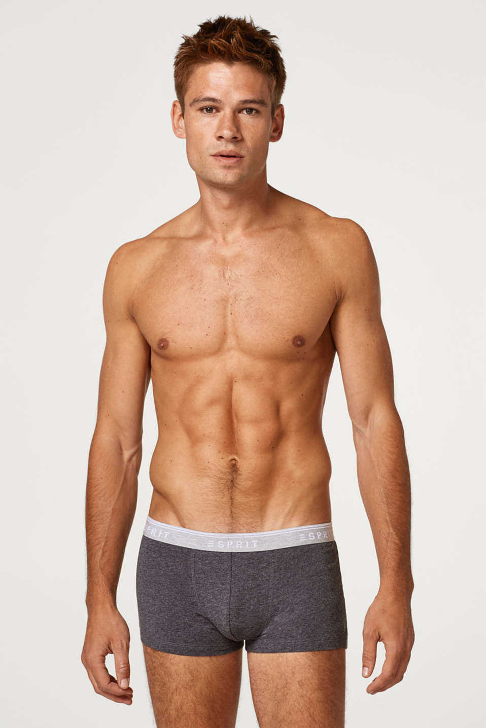 Esprit - Hipster shorts with a logo waistband