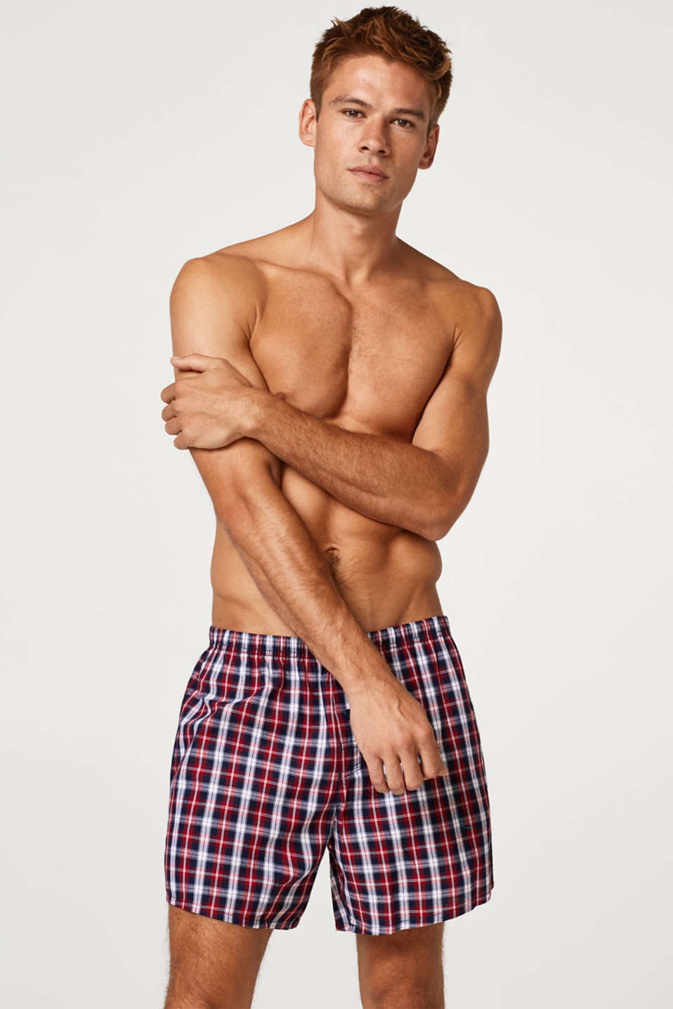 Esprit - Checked shorts, 100% cotton