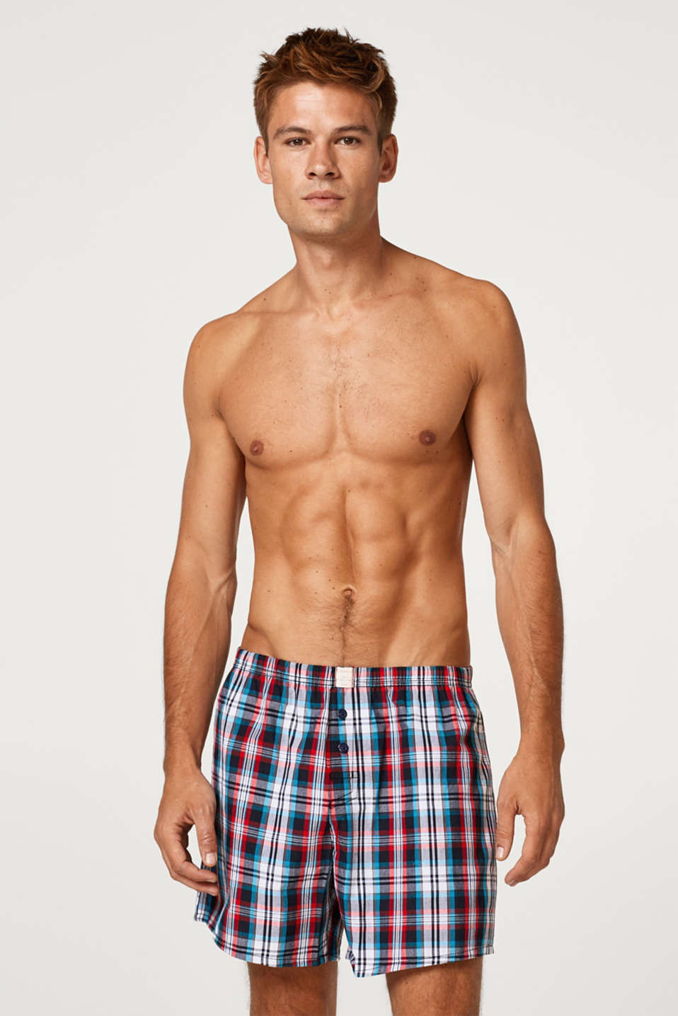 Esprit - Checked boxer shorts, 100% cotton