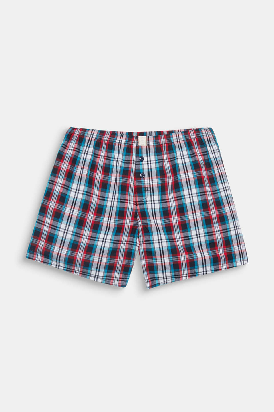 The colourful woven check pattern on lightweight cotton fabric gives these comfortable boxer shorts their special kick!