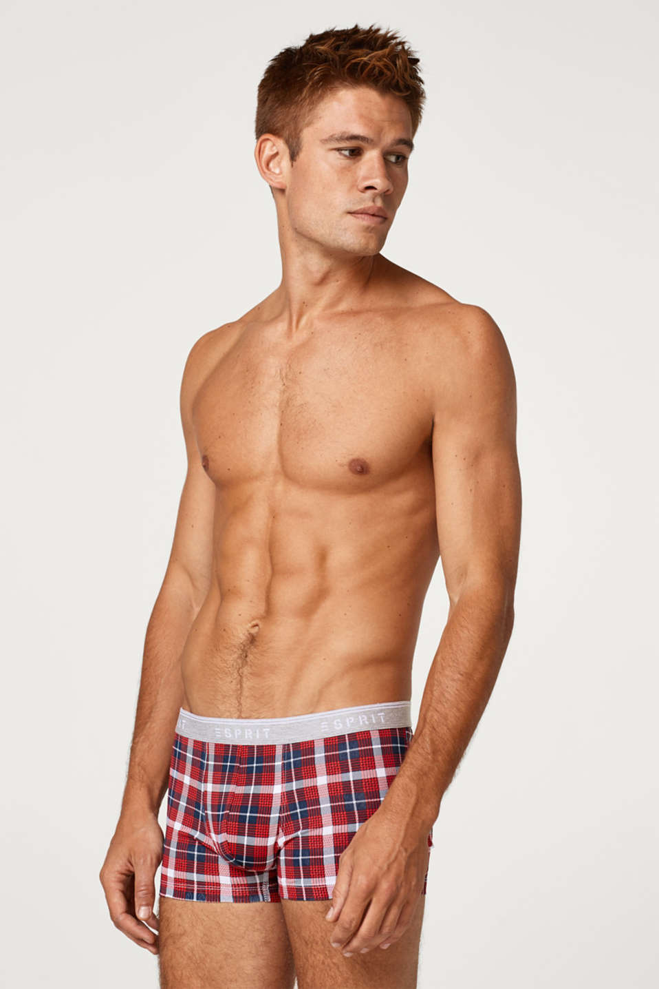 Esprit - Hipster shorts with a modern check print