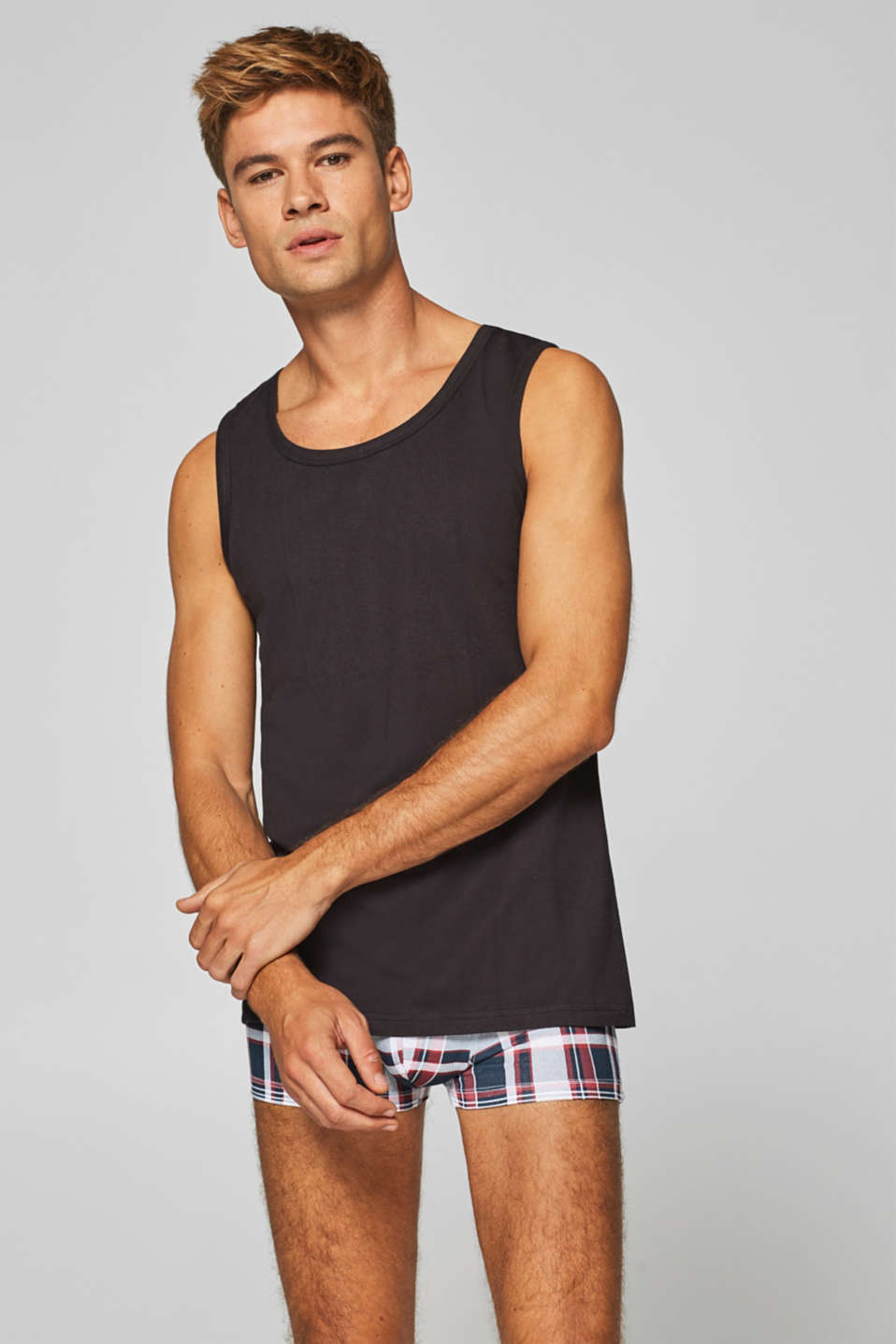 Esprit - Stretch cotton tank top