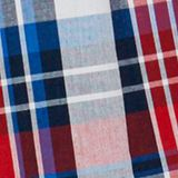 Checked boxer shorts, 100% cotton, RED, swatch