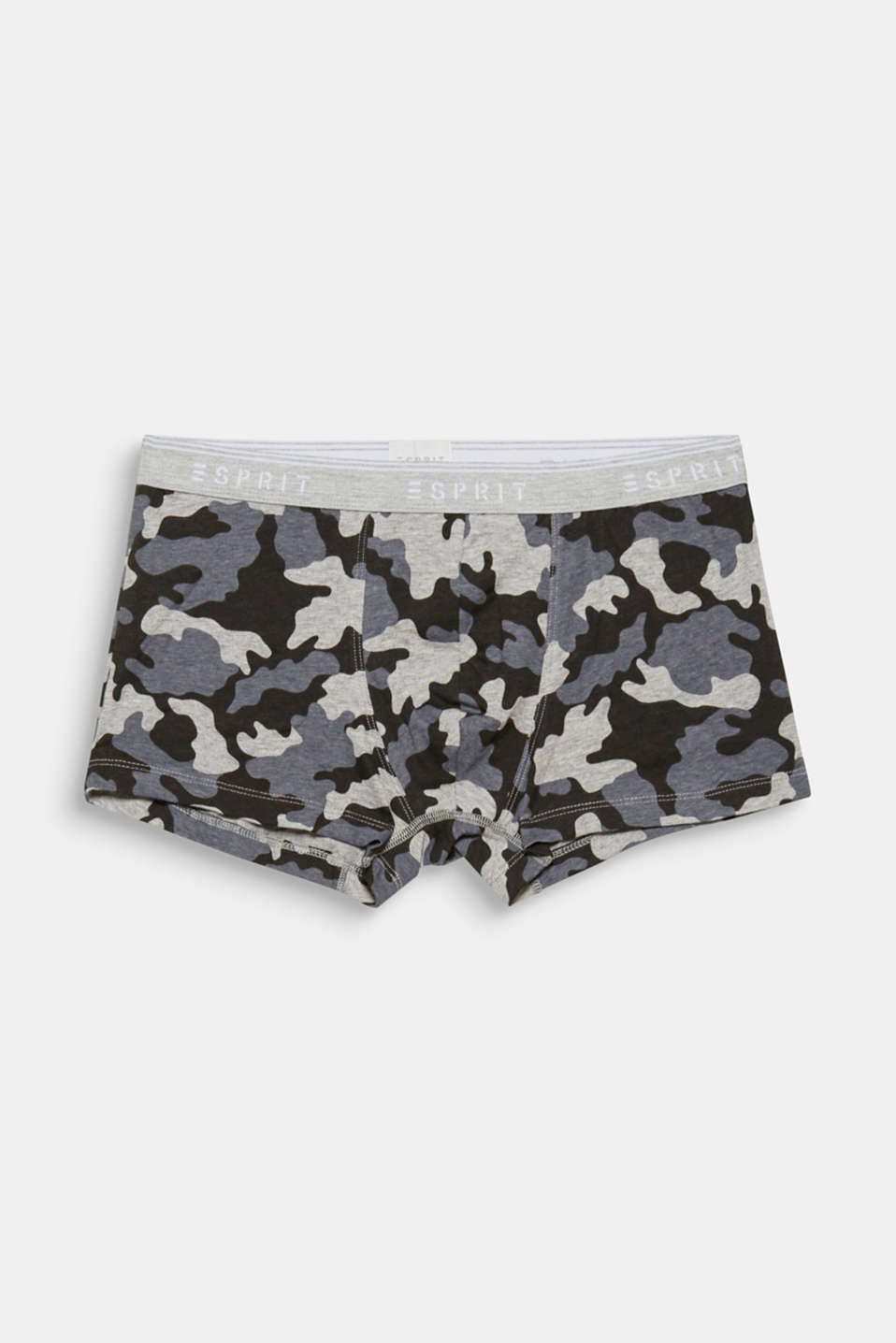 Esprit - Hipster shorts with a camouflage print