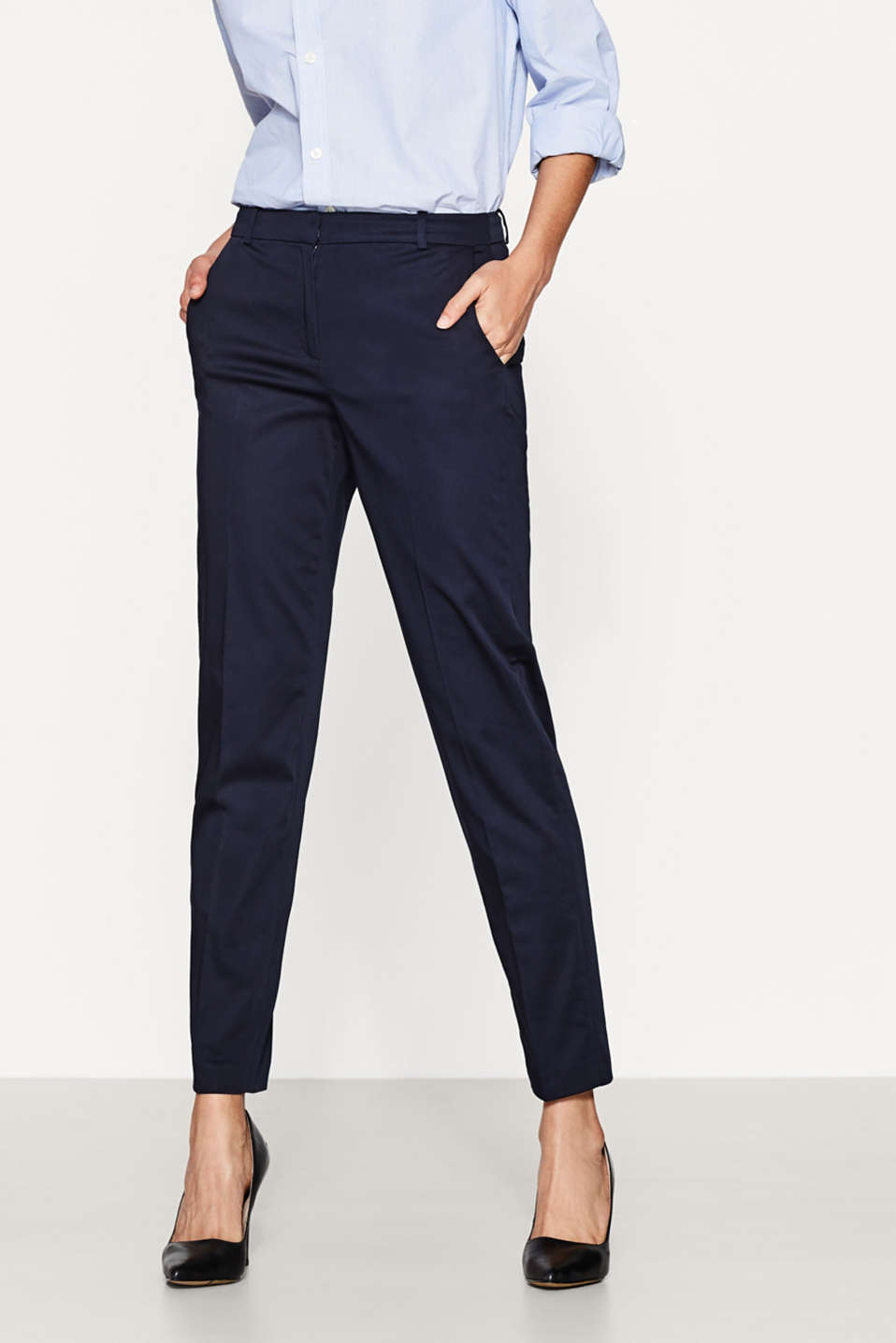 Esprit - SOFT SATIN Mix + match trousers