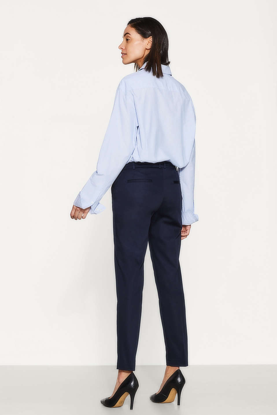 SOFT SATIN Mix + match trousers, NAVY, detail image number 3