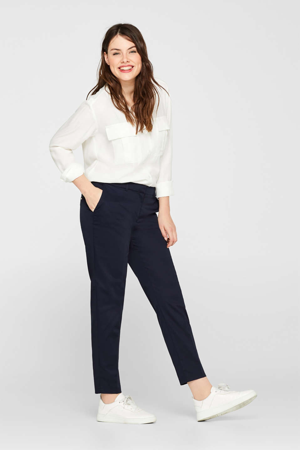 Esprit - Pantalon SOFT SATIN
