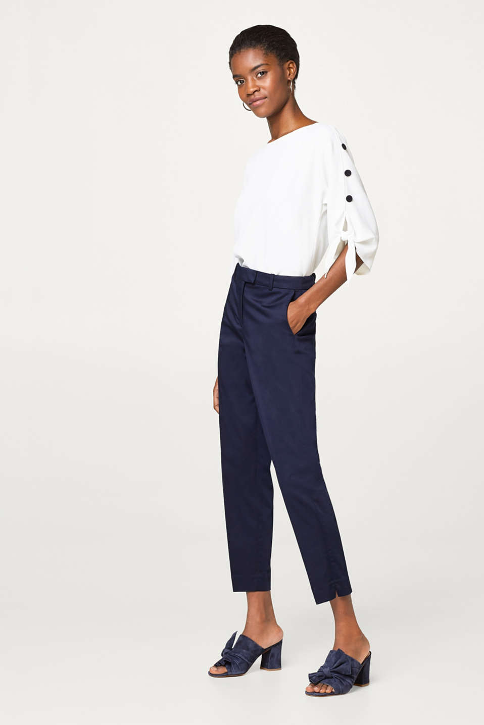SOFT SATIN Mix + match stretch trousers