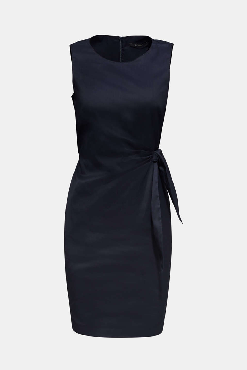 This chintz sheath dress with a draped bow at waist height is the perfect essential with a certain je ne sais quoi!