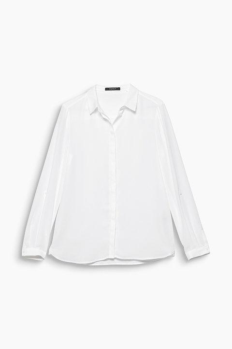 Shirt blouse made of fine crêpe