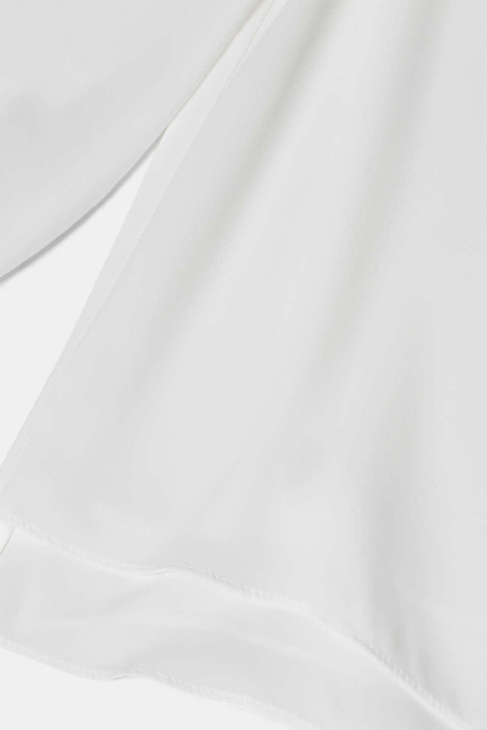 Crêpe blouse with a layered effect, OFF WHITE, detail image number 4