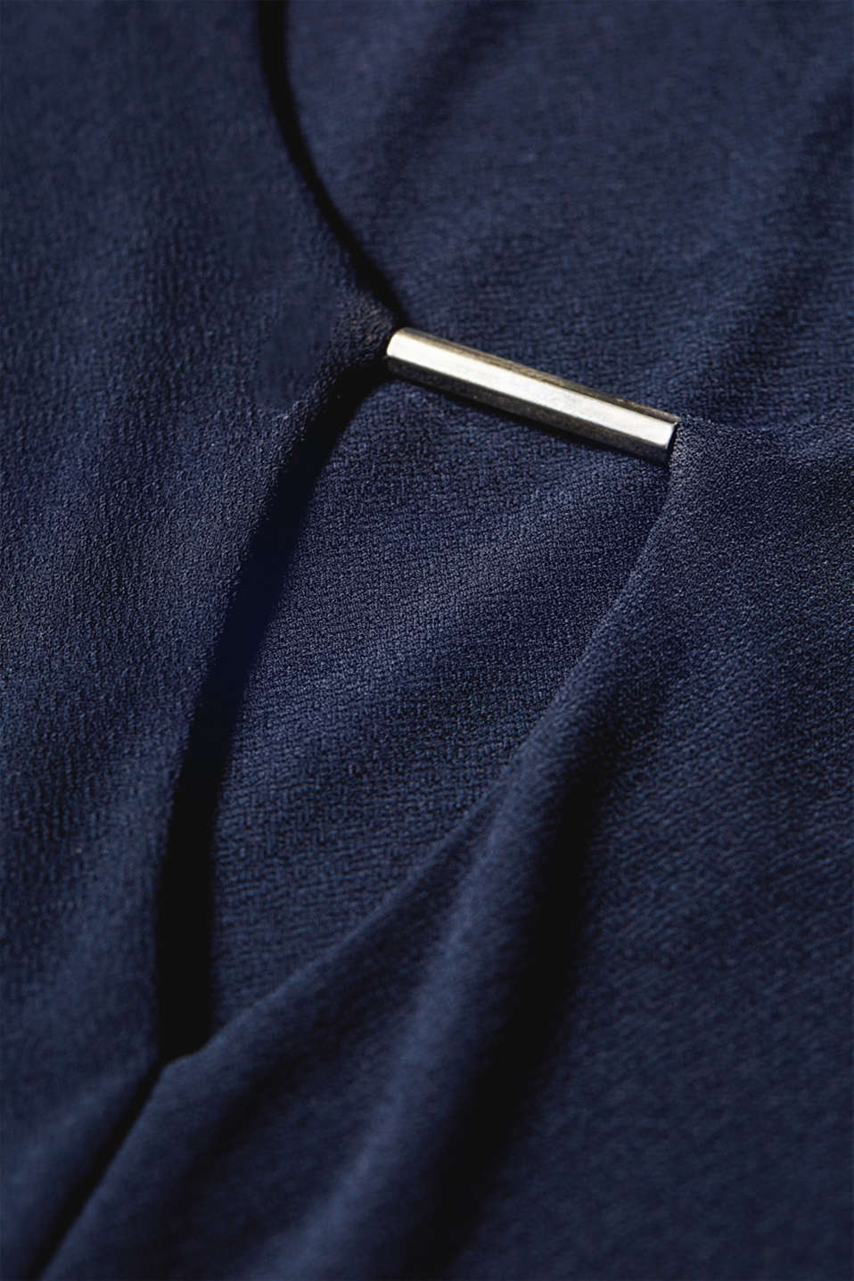 Stretchy long sleeve top with decorative details, NAVY, detail image number 4