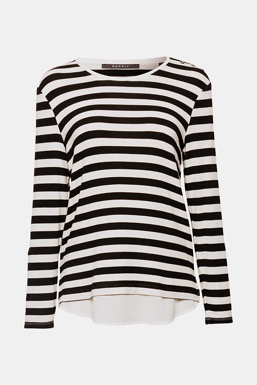 Striped stretch top in a layered look