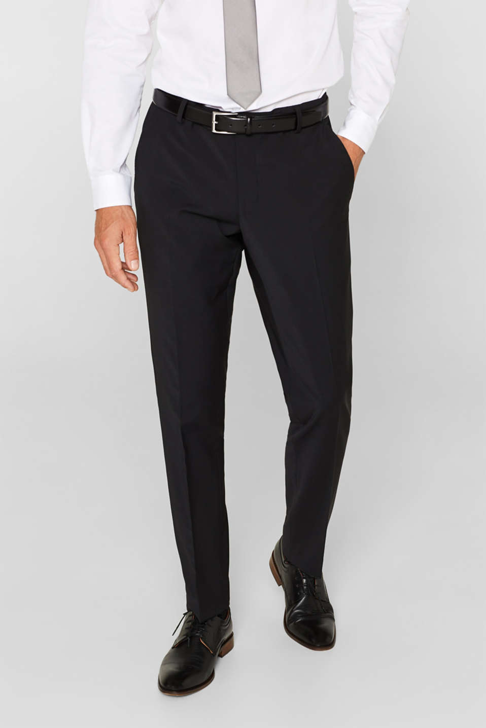 Esprit - ACTIVE SUIT suit trousers, wool blend