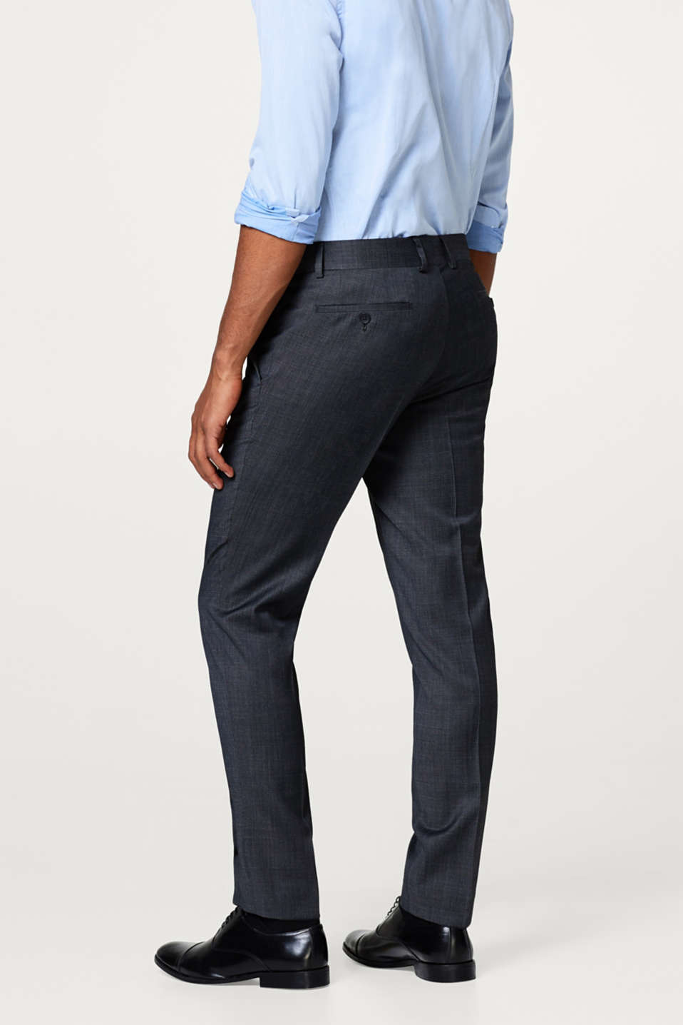 Finely mottled suit trousers in a wool blend