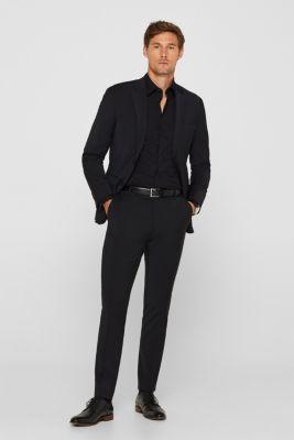 Poplin shirt in 100% cotton, BLACK, detail