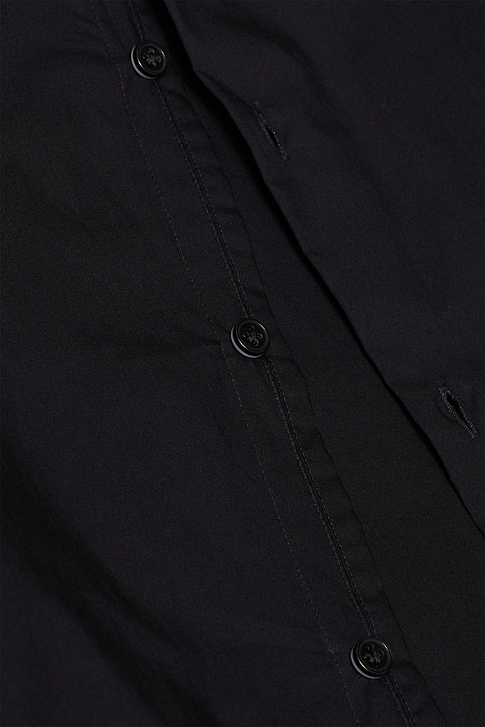 Poplin shirt in 100% cotton, BLACK, detail image number 4