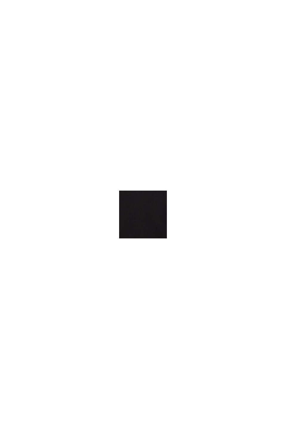 Camisa de popelina en 100% algodón, BLACK, swatch