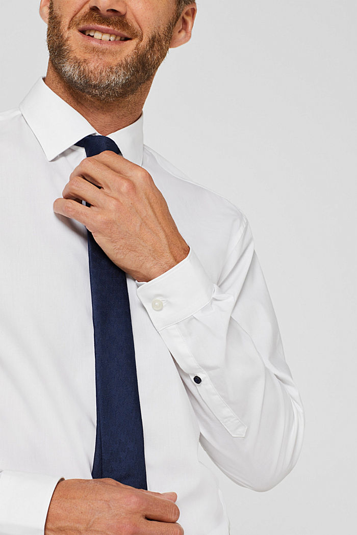 Poplin shirt in 100% cotton, WHITE, detail image number 1