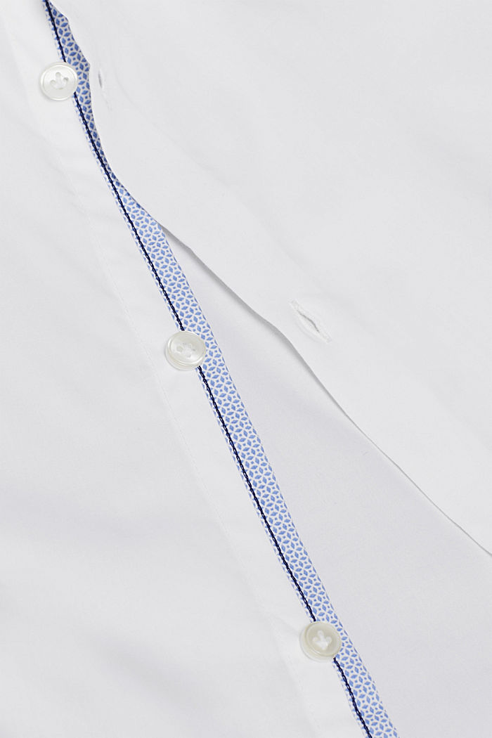 Poplin shirt in 100% cotton, WHITE, detail image number 3