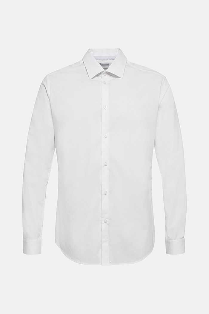Poplin shirt in 100% cotton, WHITE, detail image number 6