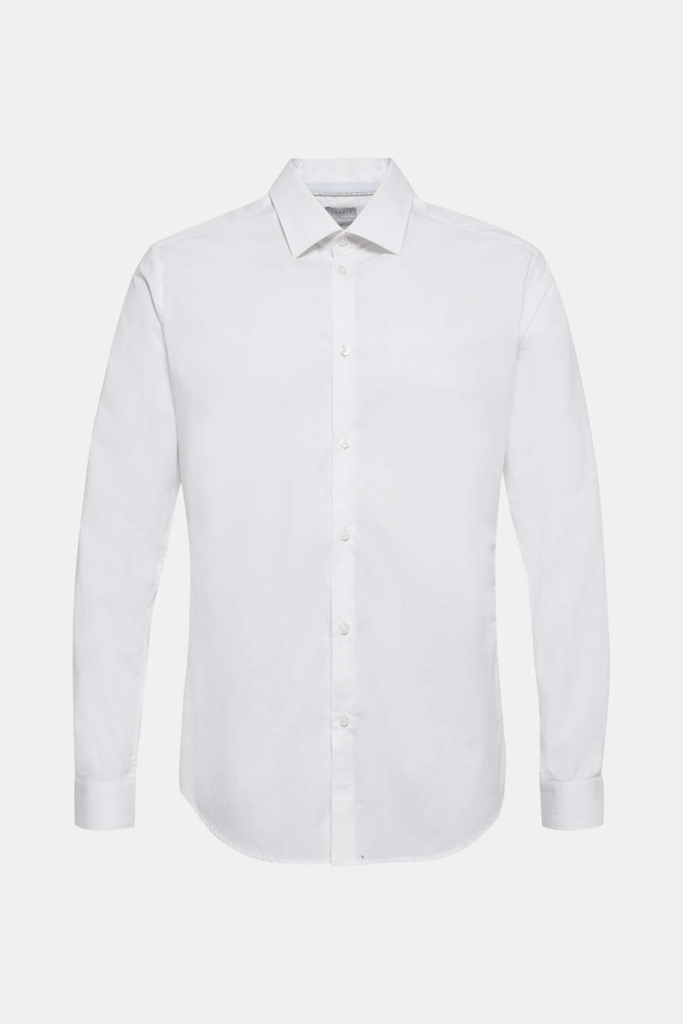 Poplin shirt in 100% cotton, WHITE, detail image number 7