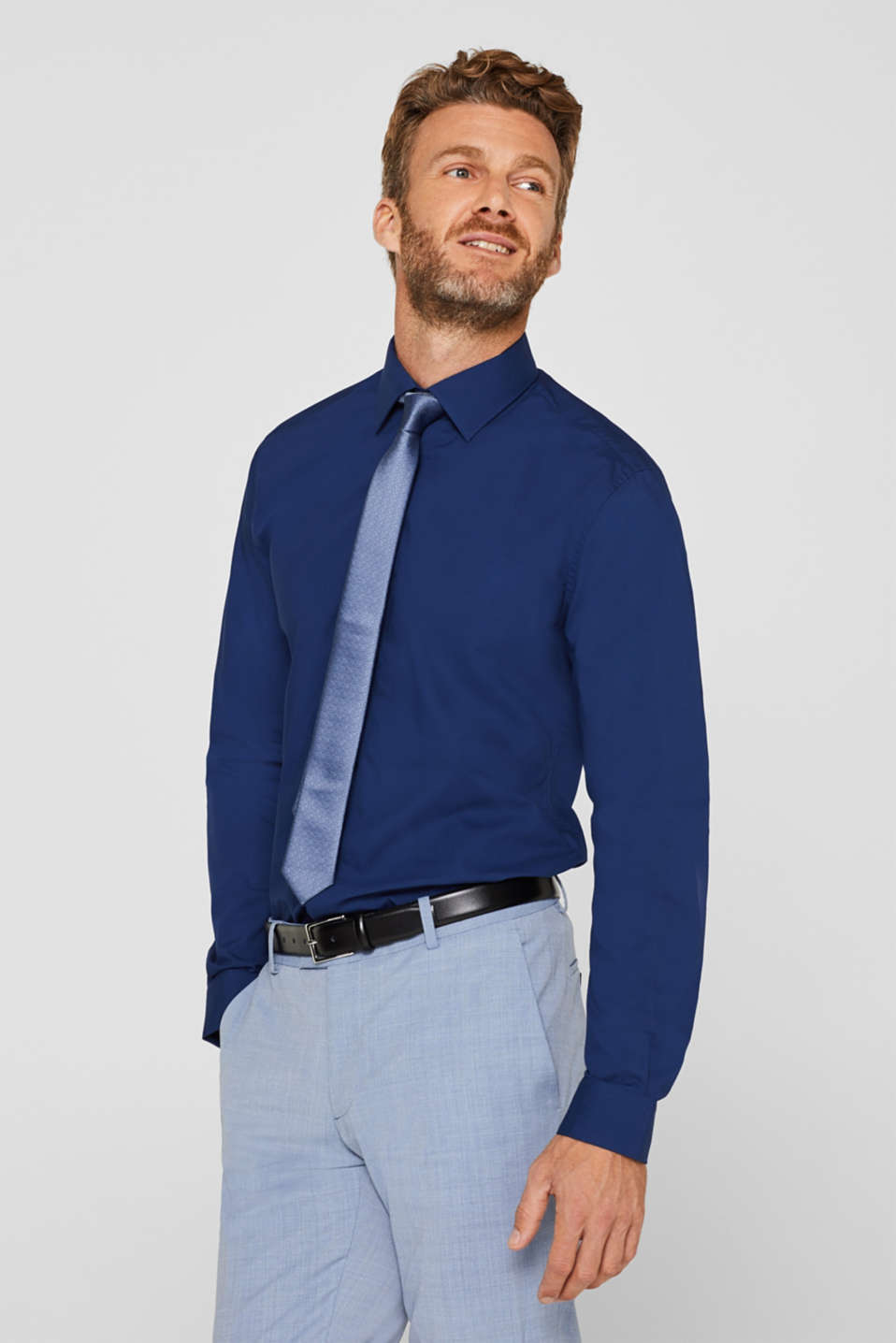 Esprit - Poplin shirt in 100% cotton