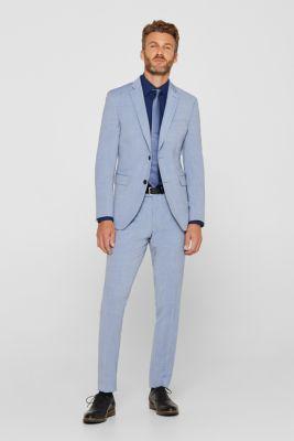 Poplin shirt in 100% cotton, NAVY, detail