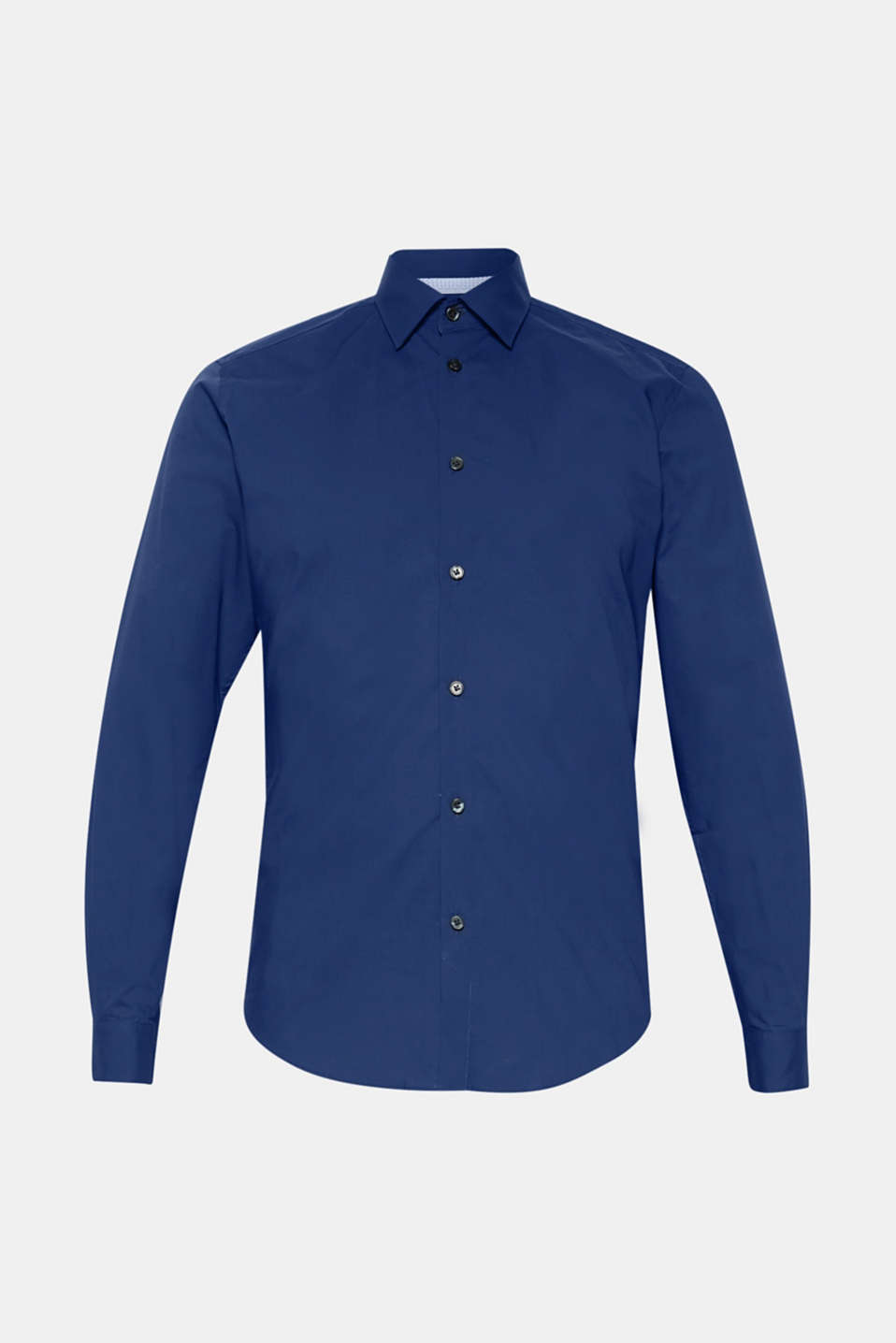 Poplin shirt in 100% cotton, NAVY, detail image number 6