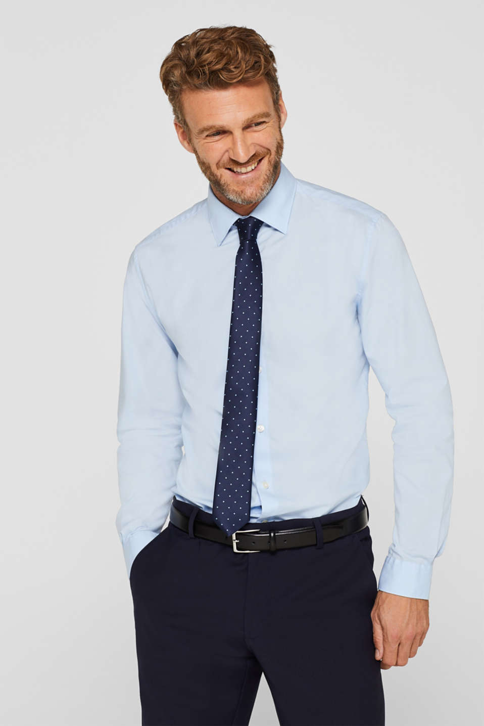 Shirts woven Slim fit, LIGHT BLUE, detail image number 0
