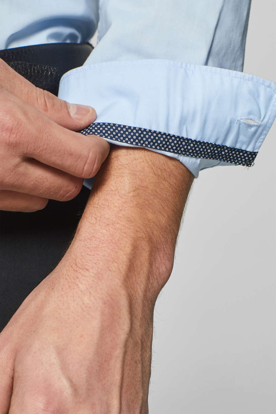 Shirts woven Slim fit, LIGHT BLUE, detail image number 2